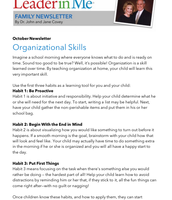 Leader in Me October Newsletter- Steven Covey
