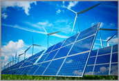 Use solar panels and windmills for energy