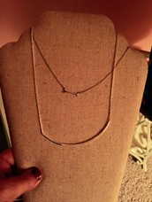 Silver Cresent Necklace! $25.00!