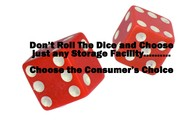 Don't Roll the Dice and choose just anywhere to store.
