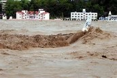 flood starts because monsoon