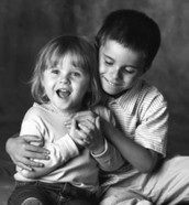brother with sister that has autism