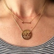 Disc Necklace $69