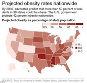 Obesity rating predictions for 2030