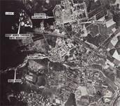 Aerial photo of Auschwitz in 1944
