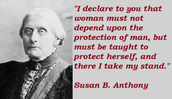 Susan B. Anthony quote
