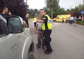 המשטרה מדברת עם הנהג