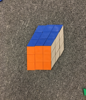 Ethan Created this Rubick's Cube Using Pattern Blocks