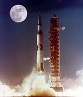 Rocket Going to Moon