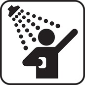 Shower quickly!