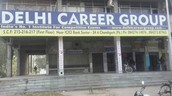 Delhi Career Group outside banner