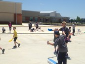 Mrs. Breaux Having Fun With 4th Graders