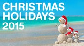 Christmas Holidays - Dec. 21-Jan. 1