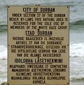 White races can only come to this beach said the sign in Africa and this is also probably in other countries