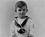 Alan Turing as a younger child