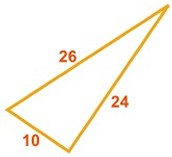 THE CONVERSE OF THE PYTHAGOREAN THEOREM: