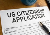 Define citizenship. How does a person become a citizen of the United States? Explain the two- part process. What is it called?