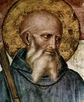 Saint Benedict founded a community of monks