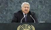 The Prime minister of Samoa
