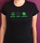 Peace, Love, Wildcats t-shirt - $15