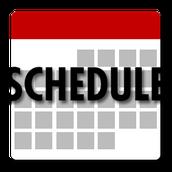 2016-2017 Schedules