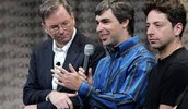 Eric Schmidt, Larry Page, and Sergey Brin