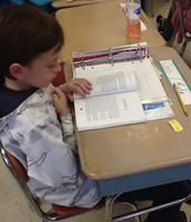 "Chris during ""Read-to-Self"" time!"