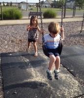 Eva pushing Max
