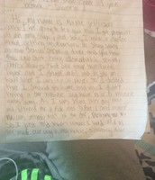 Beginning of abortion letter