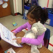 Celebrating our first published writing piece with our stuffed animals!
