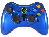 Xbox 360 controller chrome blue