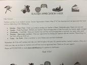 Teacher Appreciation Efforts on Full Throttle!