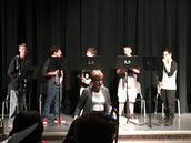 Greyhound band students treated teachers to a mini concert last Wednesday.