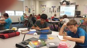 7th graders writing in Language Arts