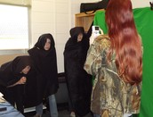 Ms. Fall's students recording scenes from Macbeth