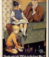 'Daddy what did YOU do in the great war?'