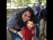 Kazim with his mom!