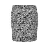 Samine negro y blanca falda