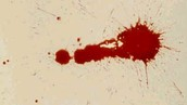 Letter I: Impact stain
