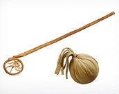 Ojibwe Lacrosse Stick and Ball