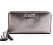 Mercer Zip Wallet - Metallic Silver