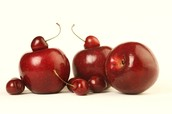 cherries and apples