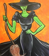 WITCH IN BLACK DRESS