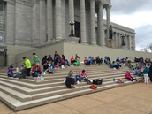 Eating Lunch on the Capitol steps