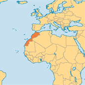 Morocco on map
