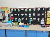 Active Word Wall in Amanda Davis second grade room