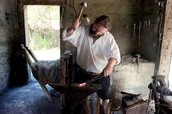 What was the blacksmith?