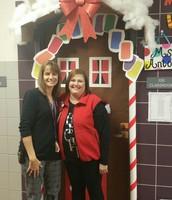 CSES Administration enjoying holiday decorations!