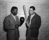 This is him with Jackie Robinson