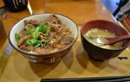 Gyuudon and Miso Soup